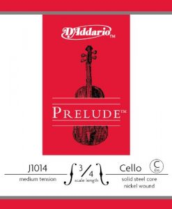 D'Addario Prelude Cello Single C String, 3/4 Scale, Medium Tension